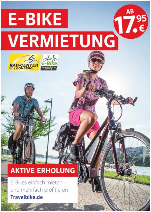 E-Bike Verleih, E-Bike Vermietung Leonberg